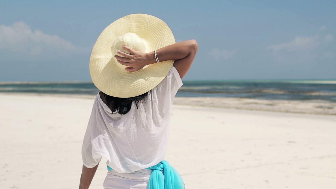 Woman In Summer Hat