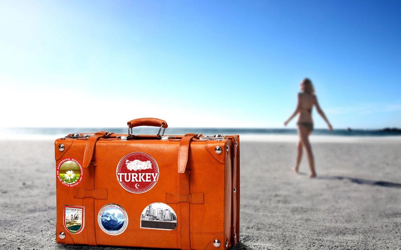 Travel Suitcase Sea Sun Holiday