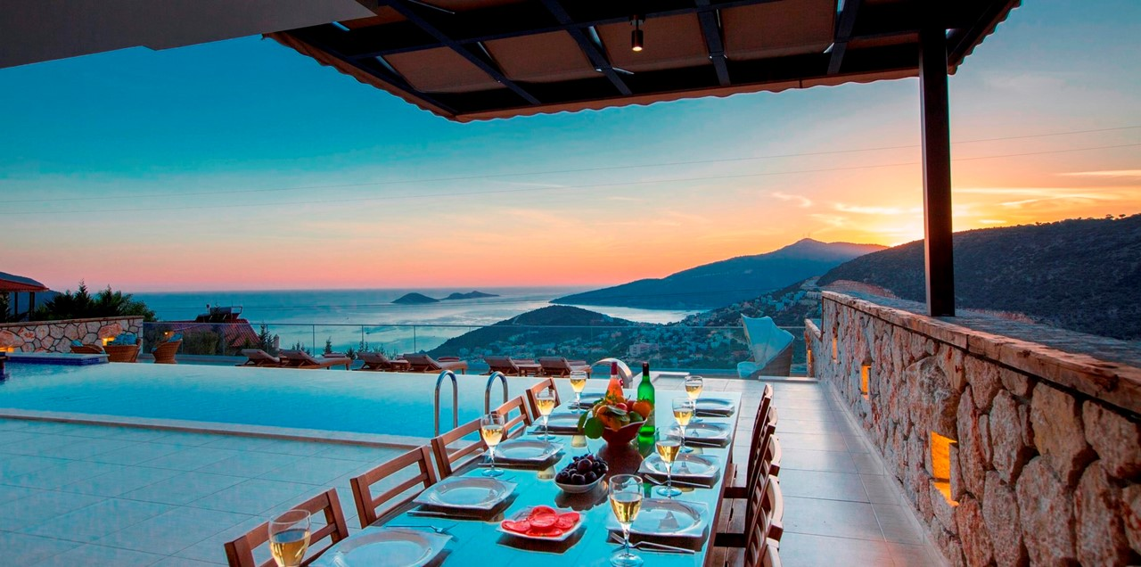 Incredible Views From The Covered Dining Terrace