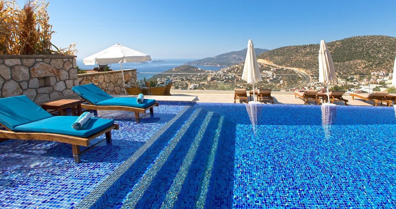 Steps Into Pool