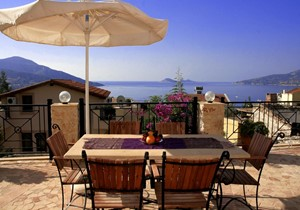 Sea view dining terrace