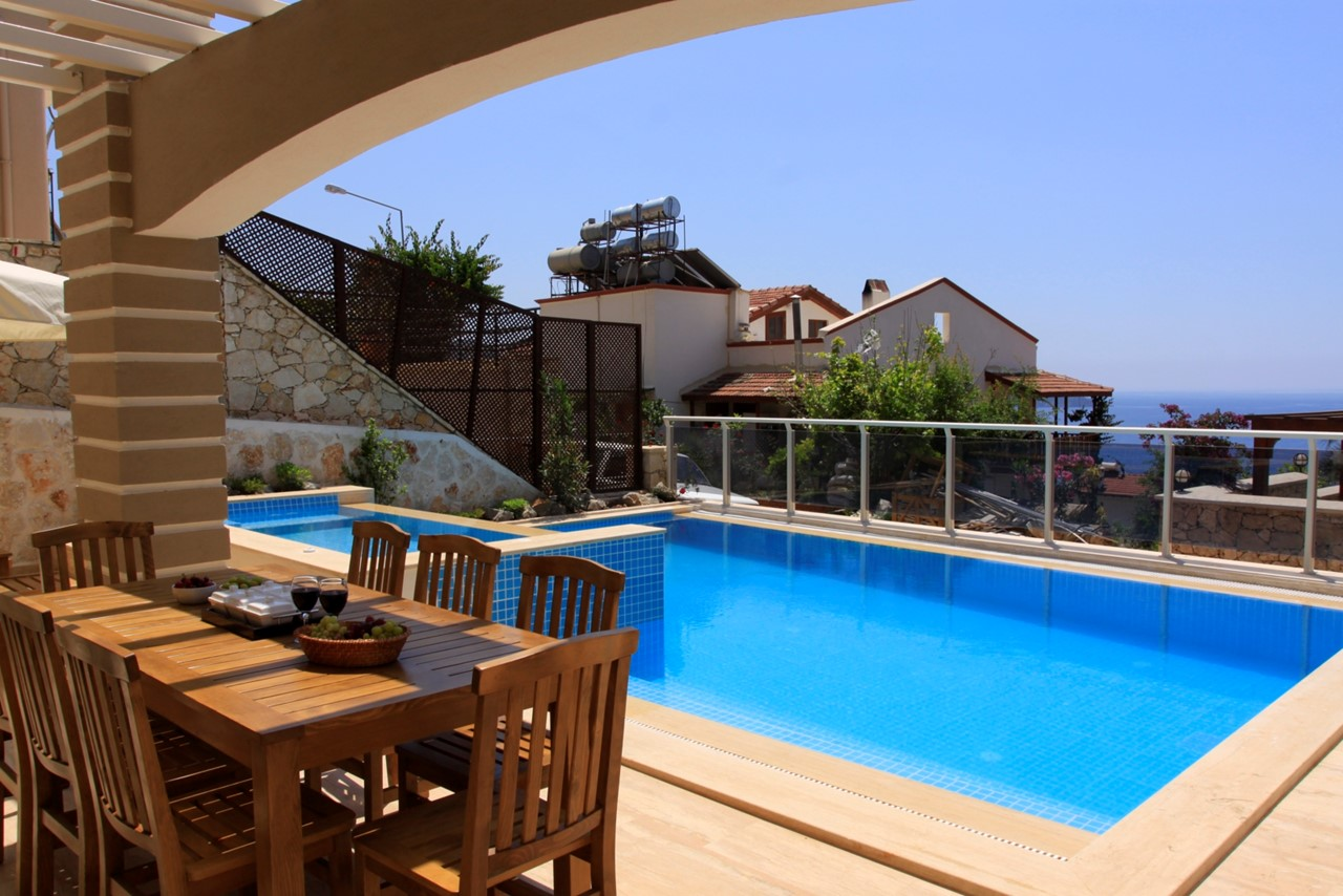 Private pool and dining terrace