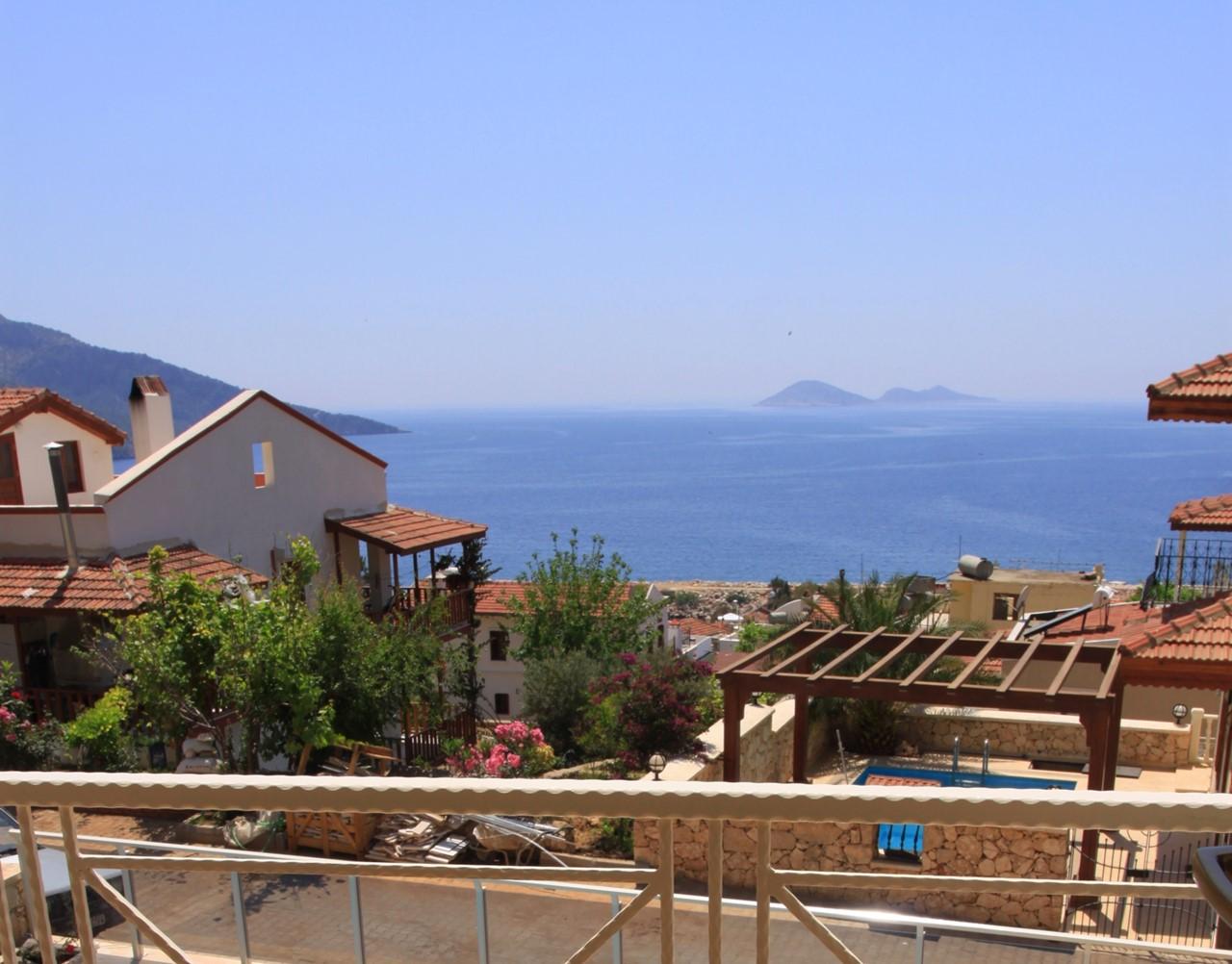 Sea views from Kalkan villa Sena