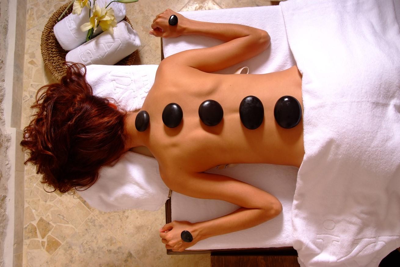 Arrange a hot stone massage