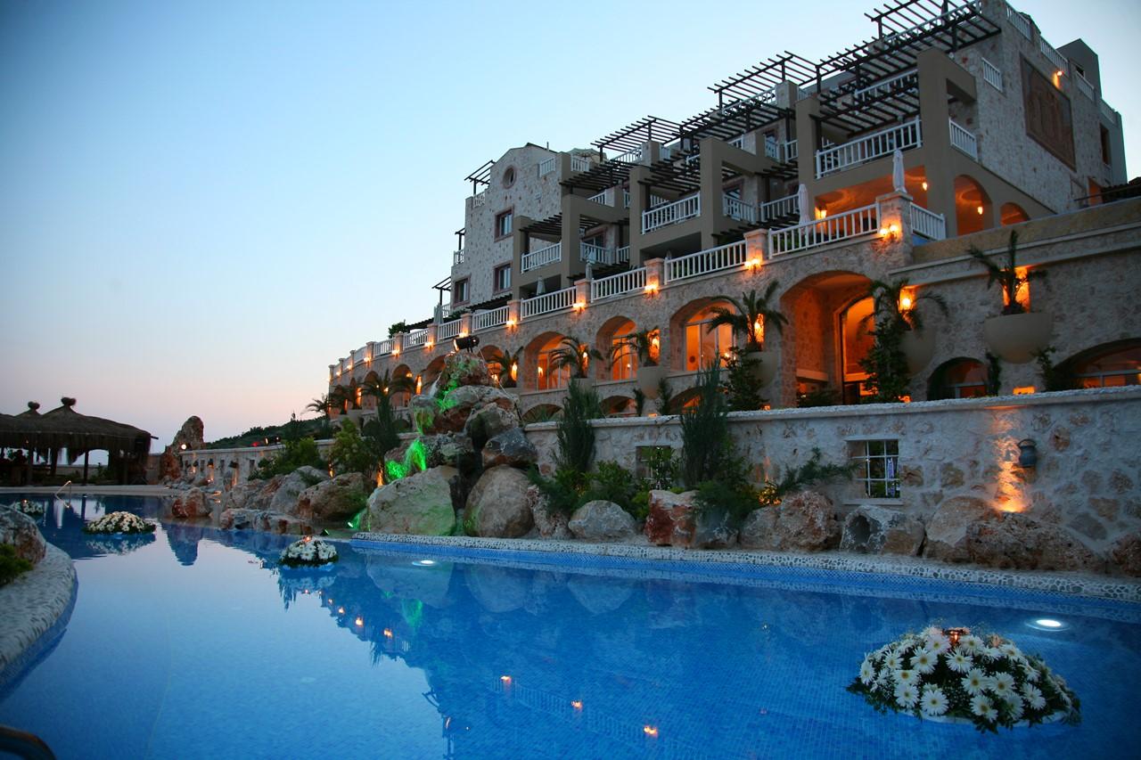 The Likya Hotel at dusk