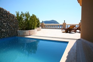 Private pool and spacious terrace