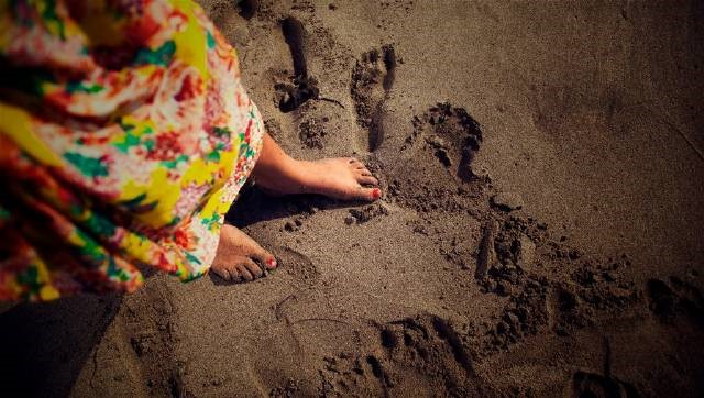 Footprints in the sand..