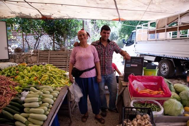 Meet the locals at Kalkan's market