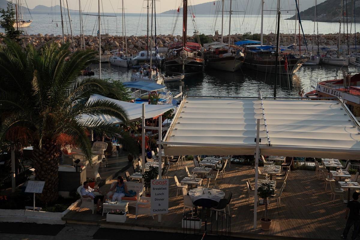Harbourside restaurants in Kalkan