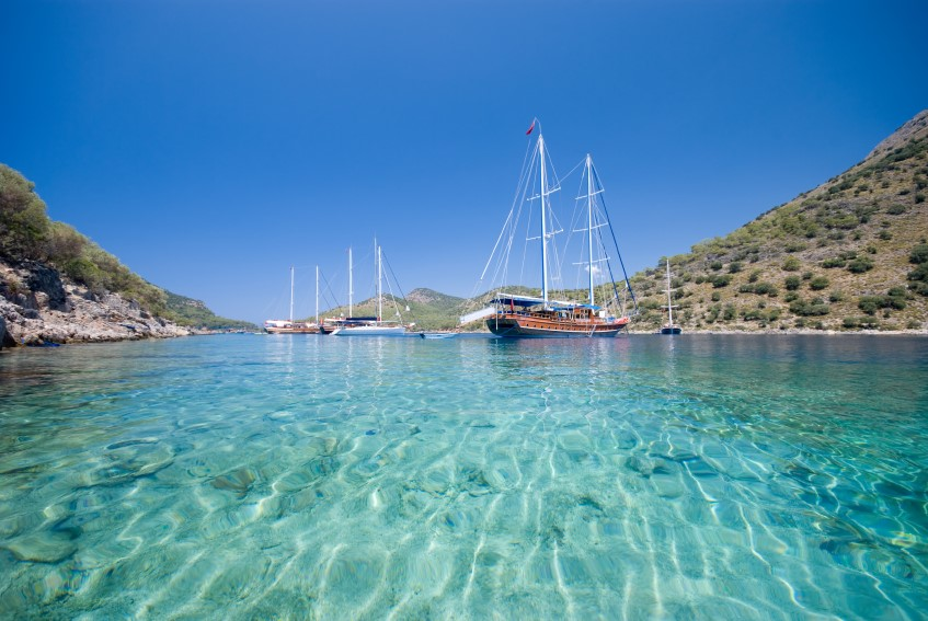 A Gulet trip is a great way to experience the clear blue mediterranean