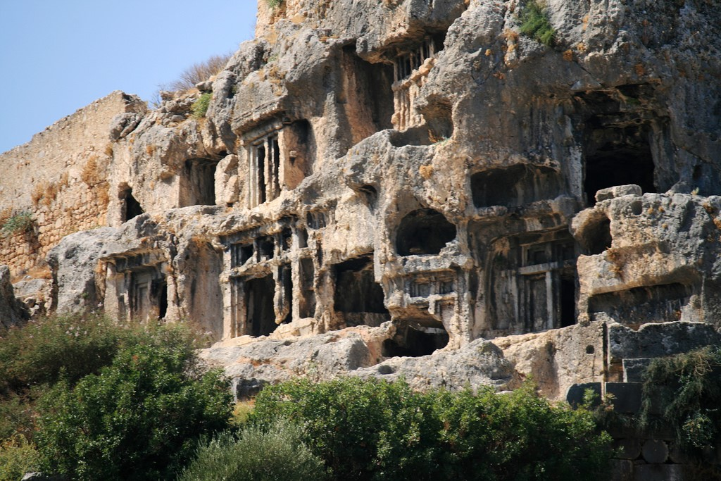 Visit the ancient tombs in Tlos