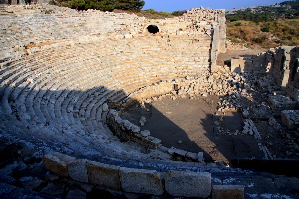 Ancient amphitheatre ruins are found all around Turkey