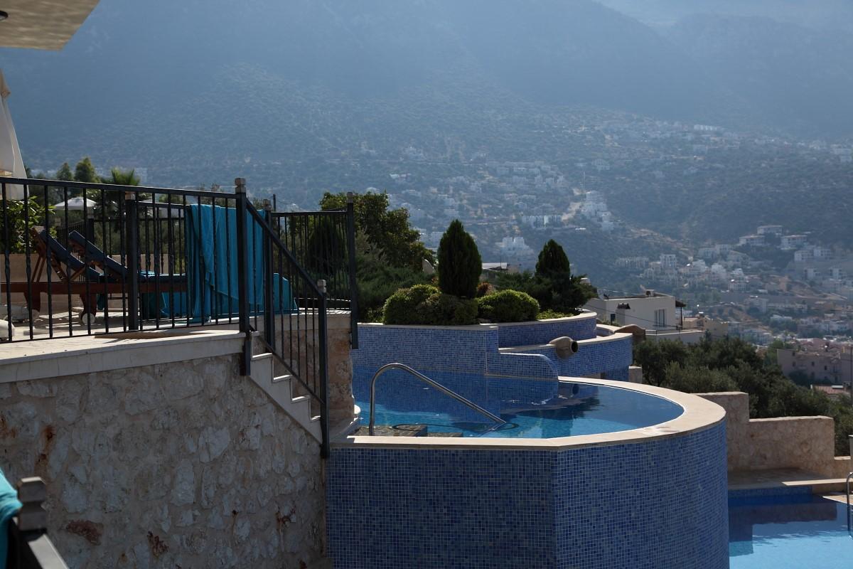 Infinity pools with sea views