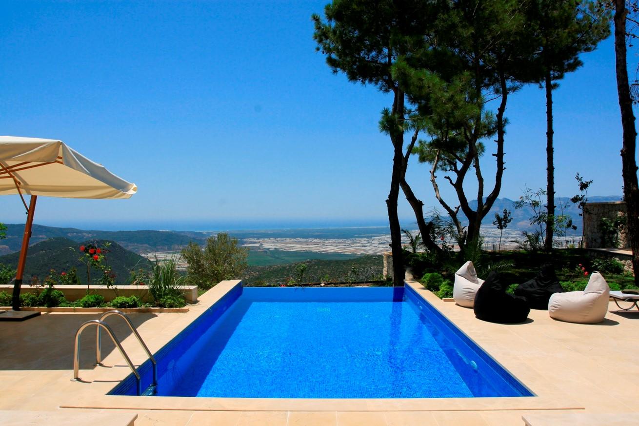 Villa Angelica has breathtaking views of the plains of Patara