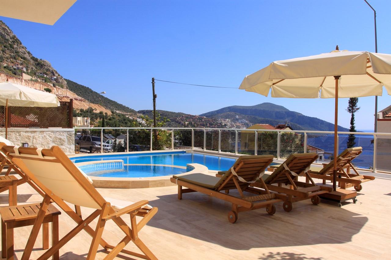 Villa Doruk private swimming pool terrace