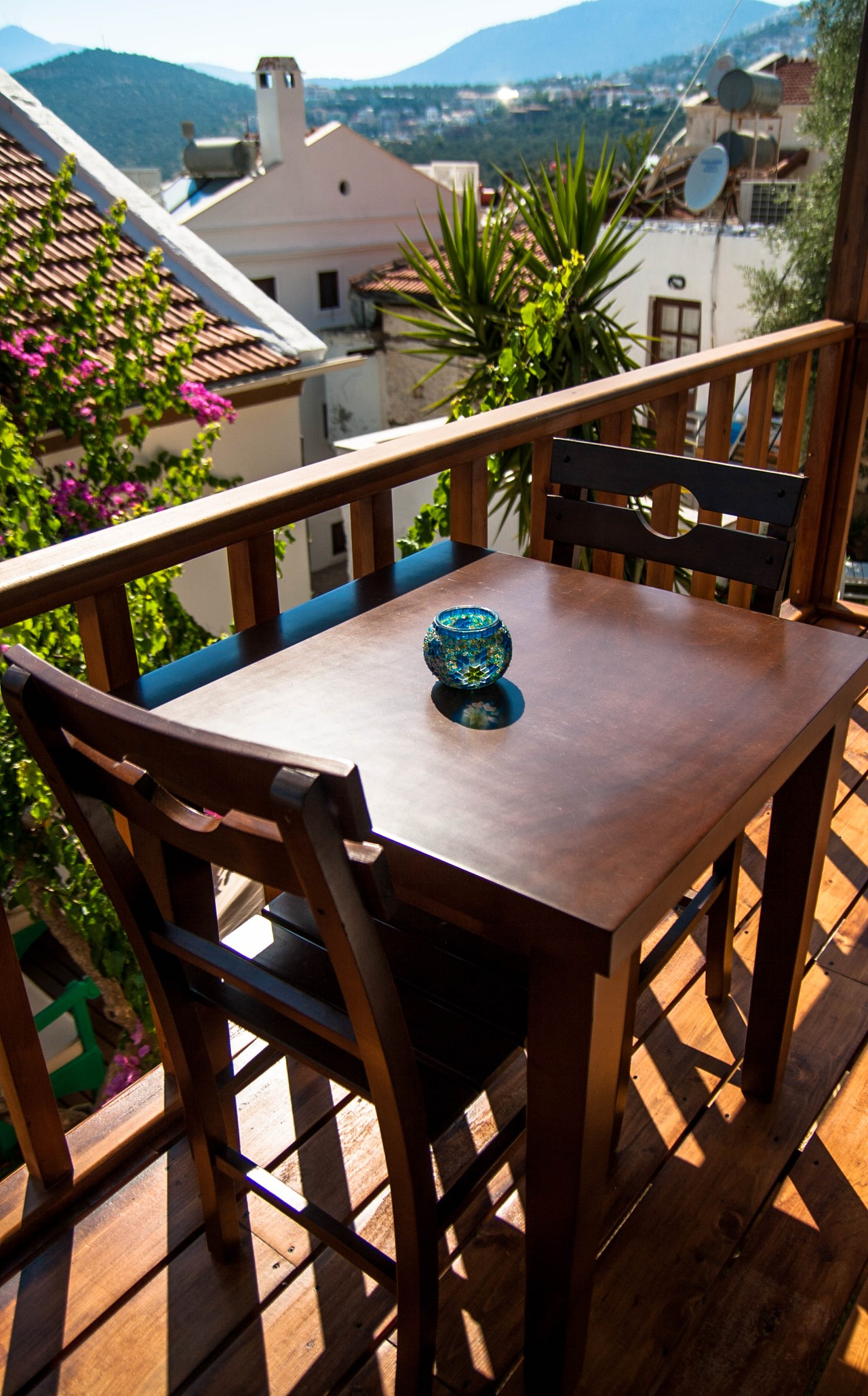 Private balcony from room 4