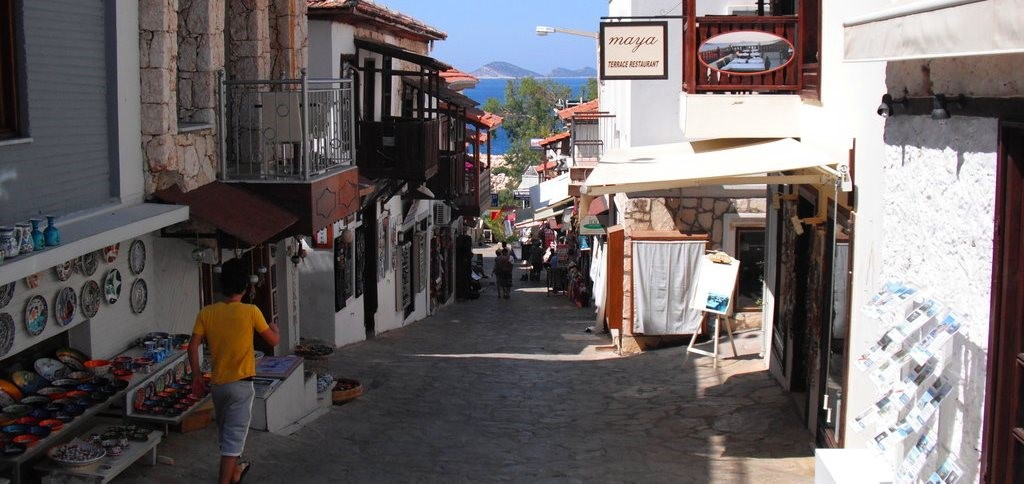 Kalkan streets in the Old Town