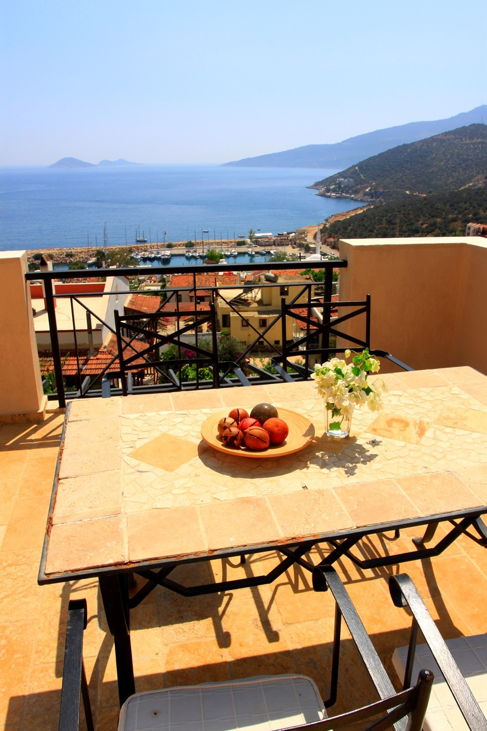 Roof terrace with incredible views to Kalkan Harbour