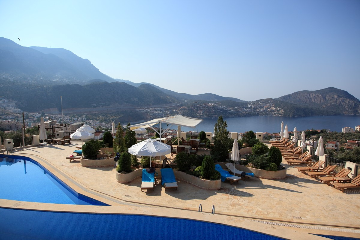 Elvina infinity pools and terrace with fantastic sea views
