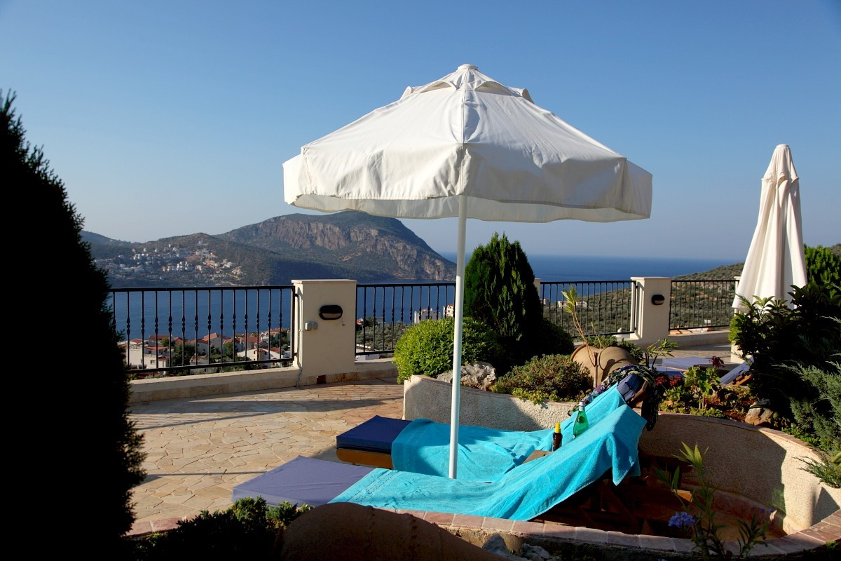Sunbathe on the sea view terrace