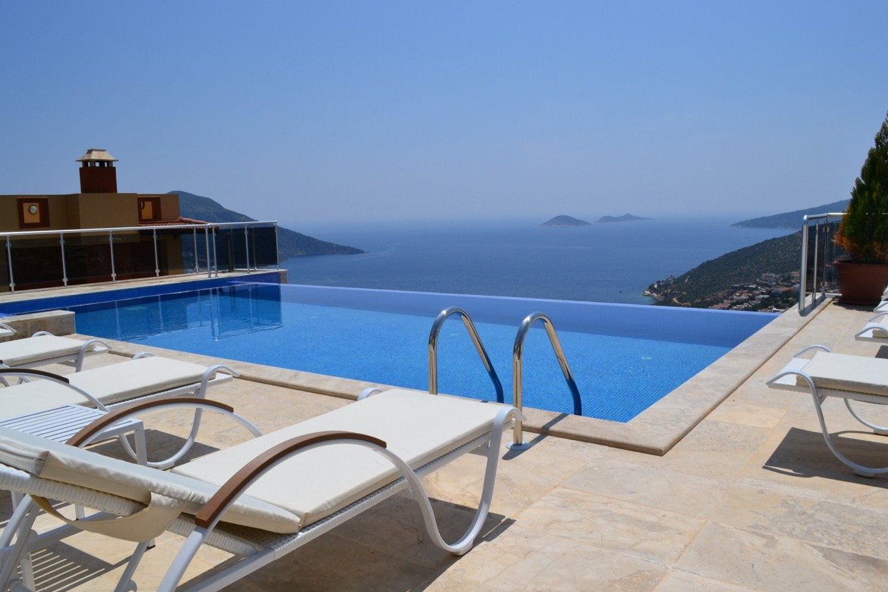 Infinity pool and terrace offering fantastic views