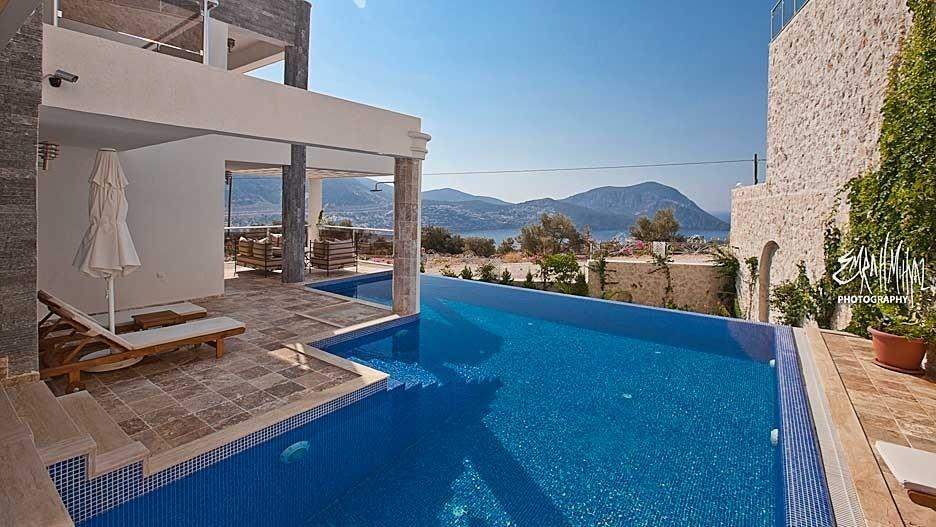 Infinity pool with fantastic sea views