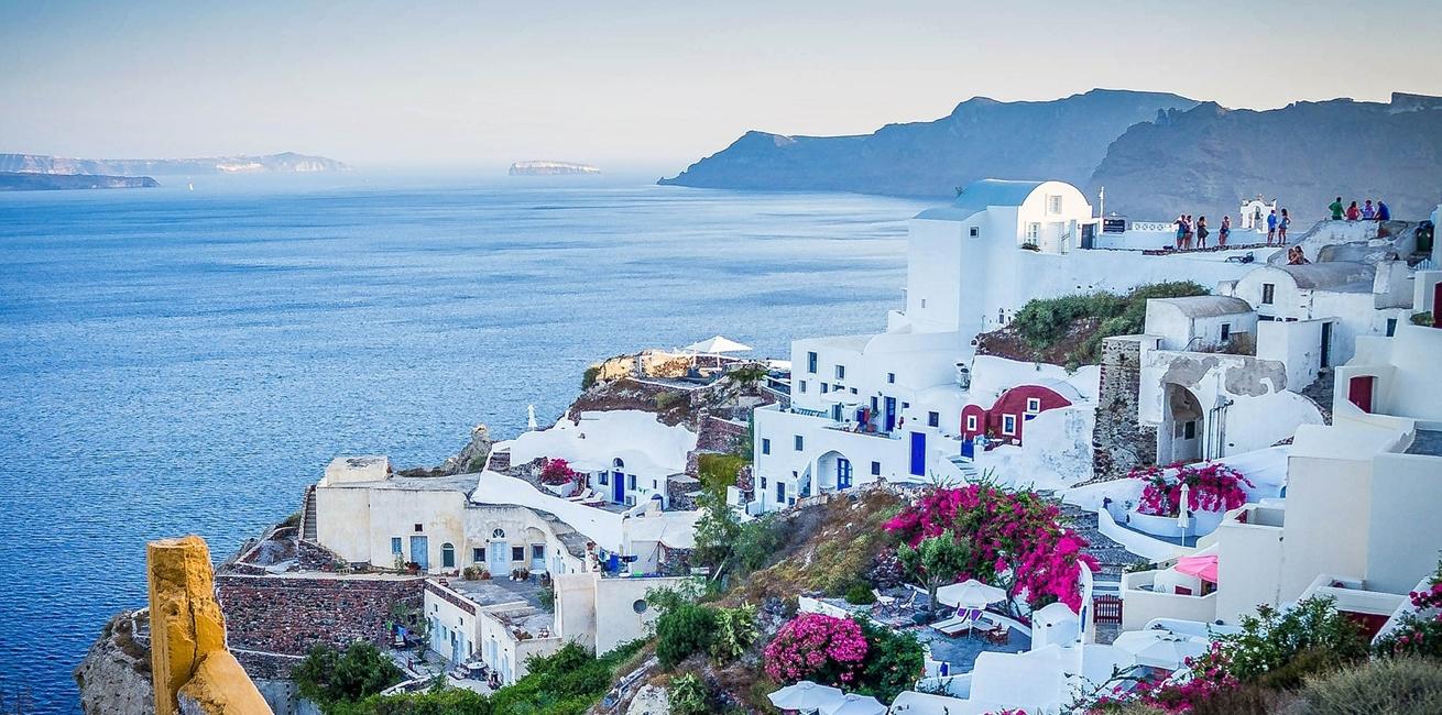Maxpixelfreegreatpicturecom Tourism Sunset Sea Santorini Greece Oia Island 416136
