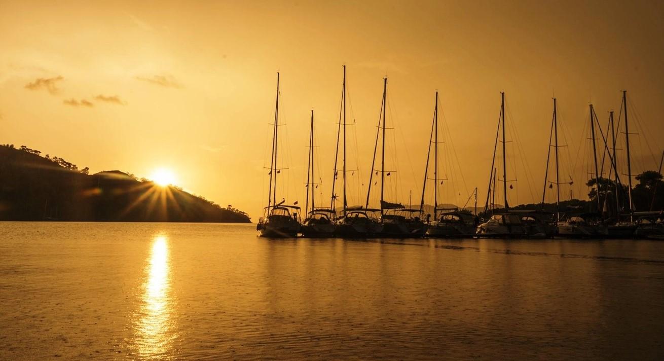 Sea Horizon Dock Sunrise Sunset Boat 328334 Pxherecom