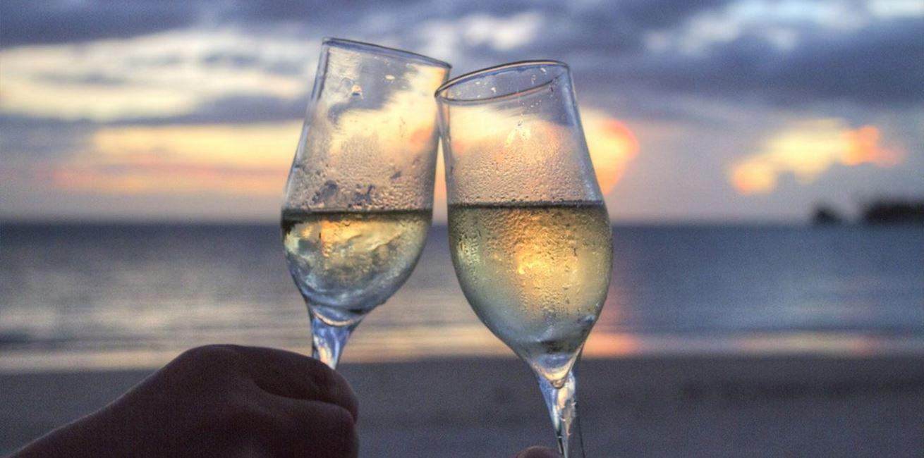 Sea Sunset Beach Couple 1