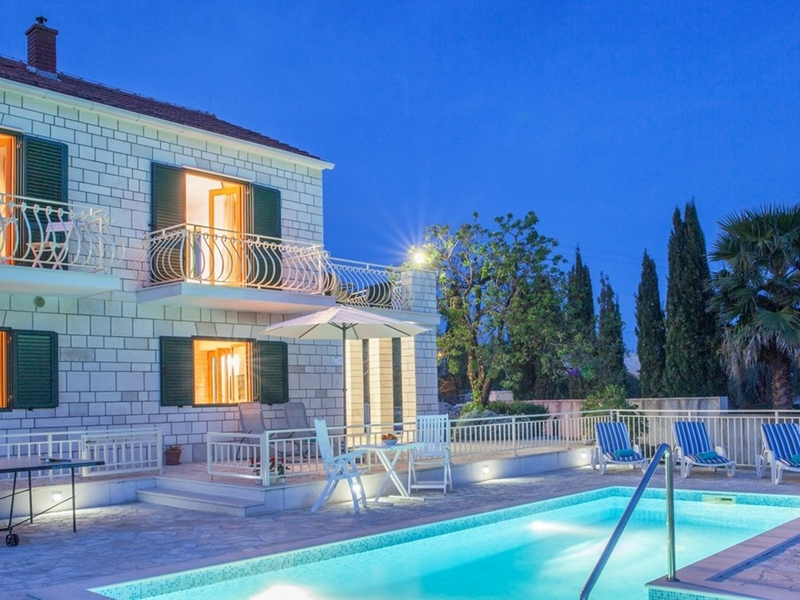 Villa Vjeka Pool At Night