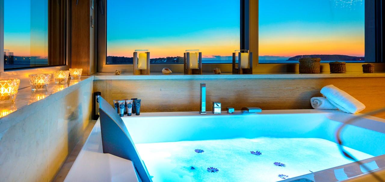 Bedroom Hot Tub Sunset