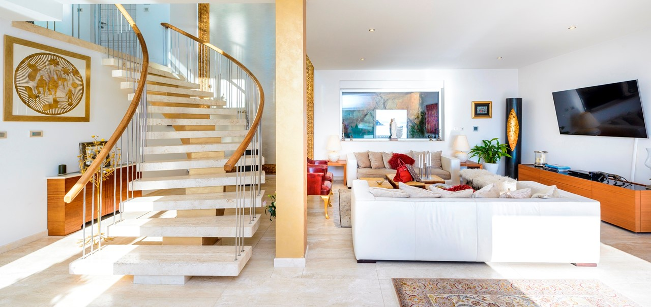 Living And Stairs