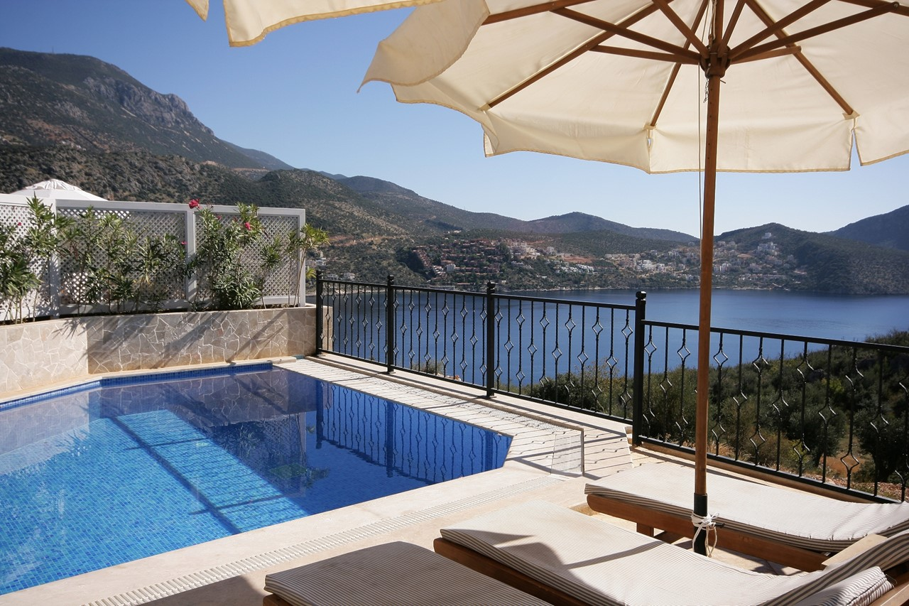 Sunbathe by the pool and enjoy fantastic views