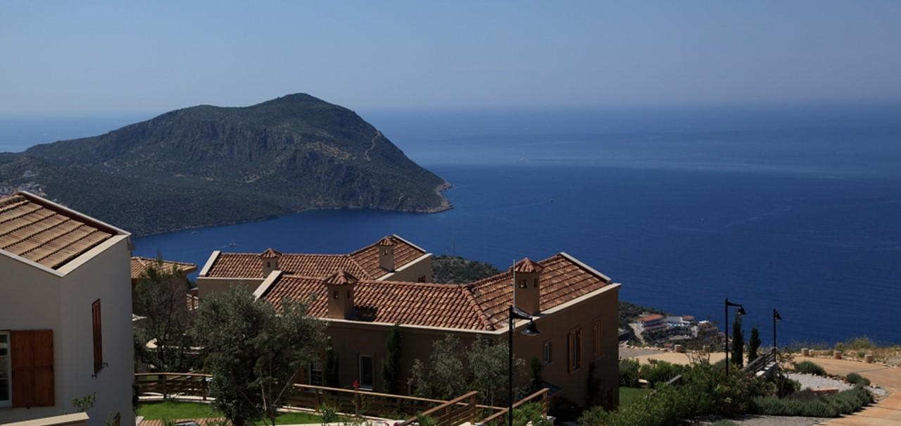 Sea views from resort
