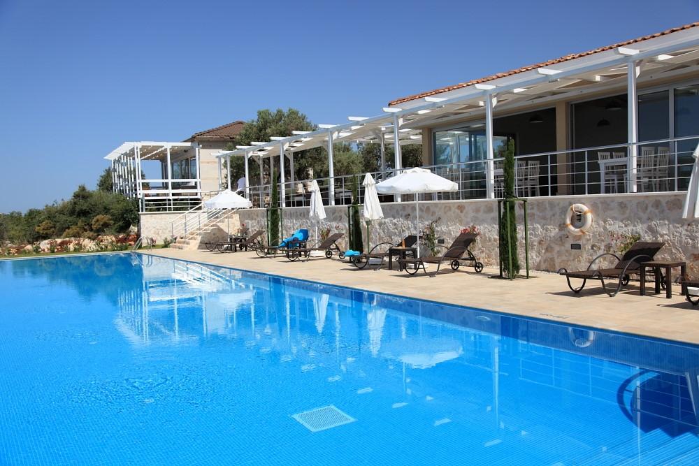 Infinity pool at the LaVanta resort Kalkan