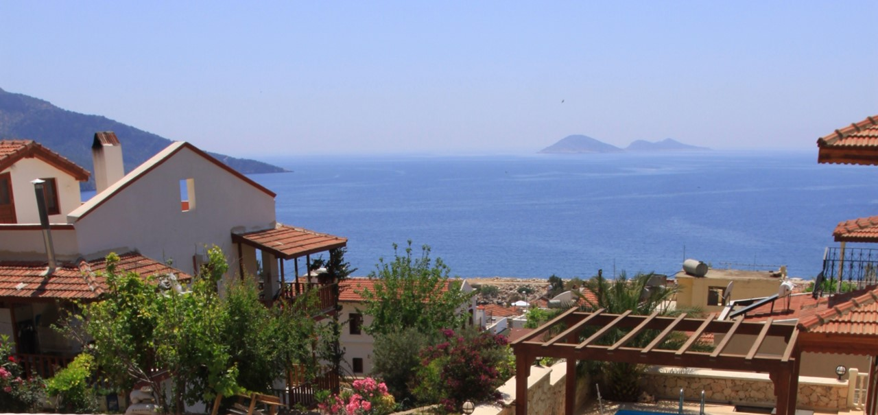 Sea views from Kalkan villa Sena