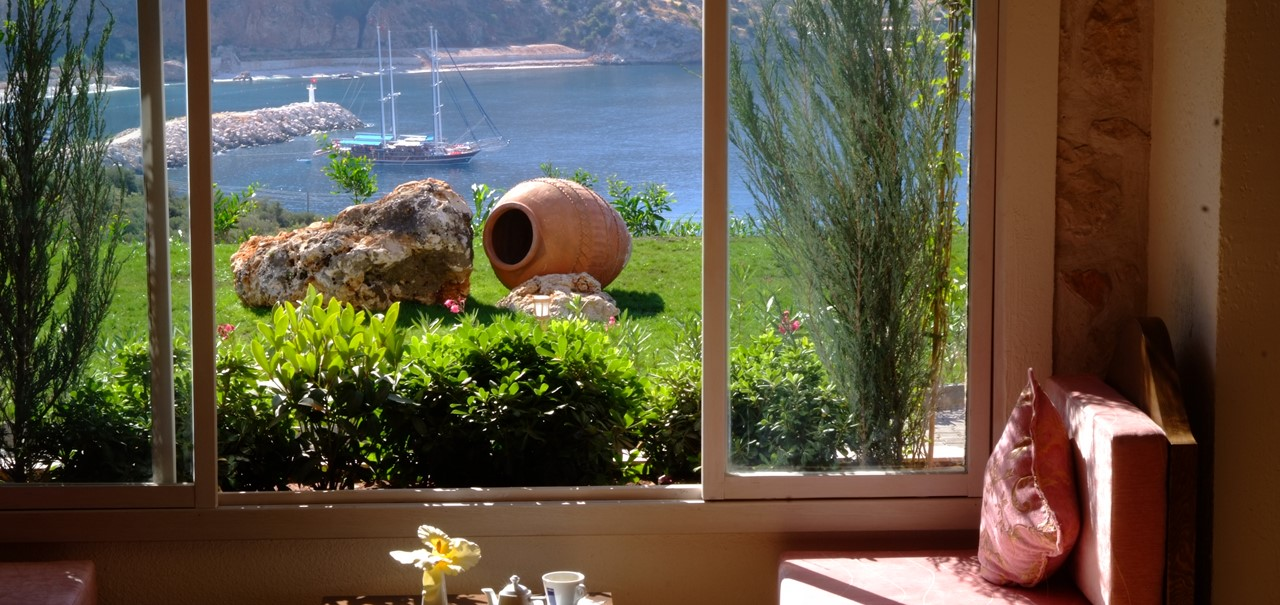 Fabulous sea views from suites at The Likya Hotel