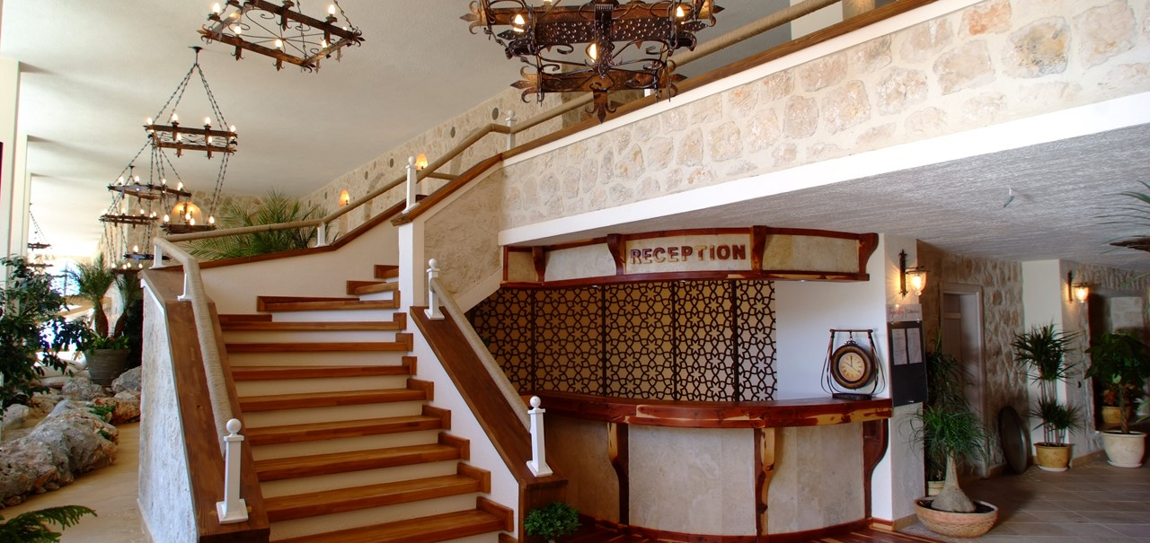 Reception area at The Likya Residence Hotel and Spa