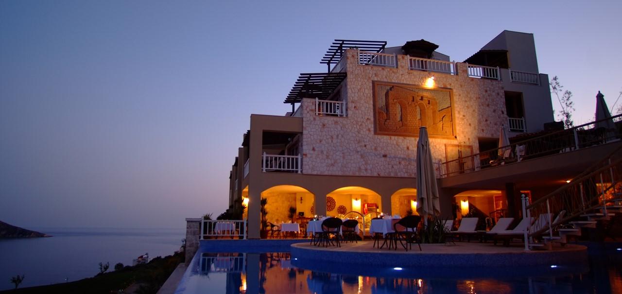 The Likya Hotel at night
