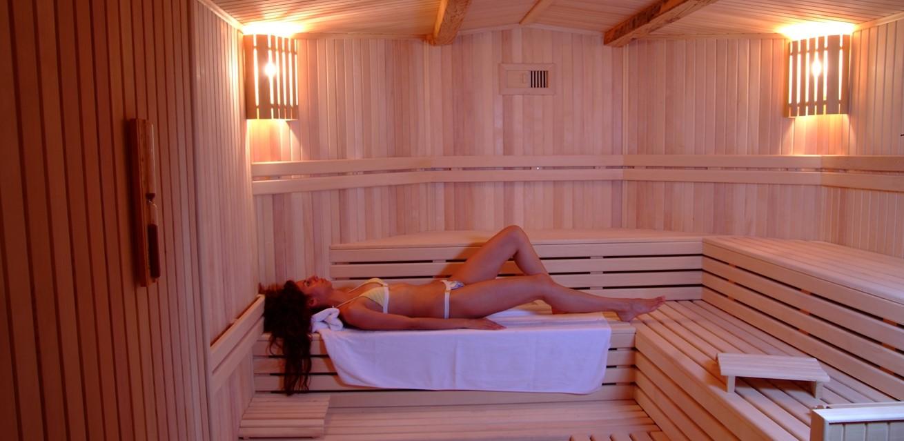 Sauna at the Likya Hotel spa
