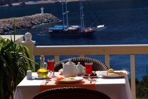 Enjoy sea views at breakfast at The Likya Hotel