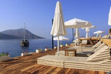 Relax at the Yali Beach Club in Kalkan