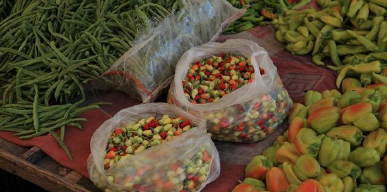 Fresh produce at Kalkan markets