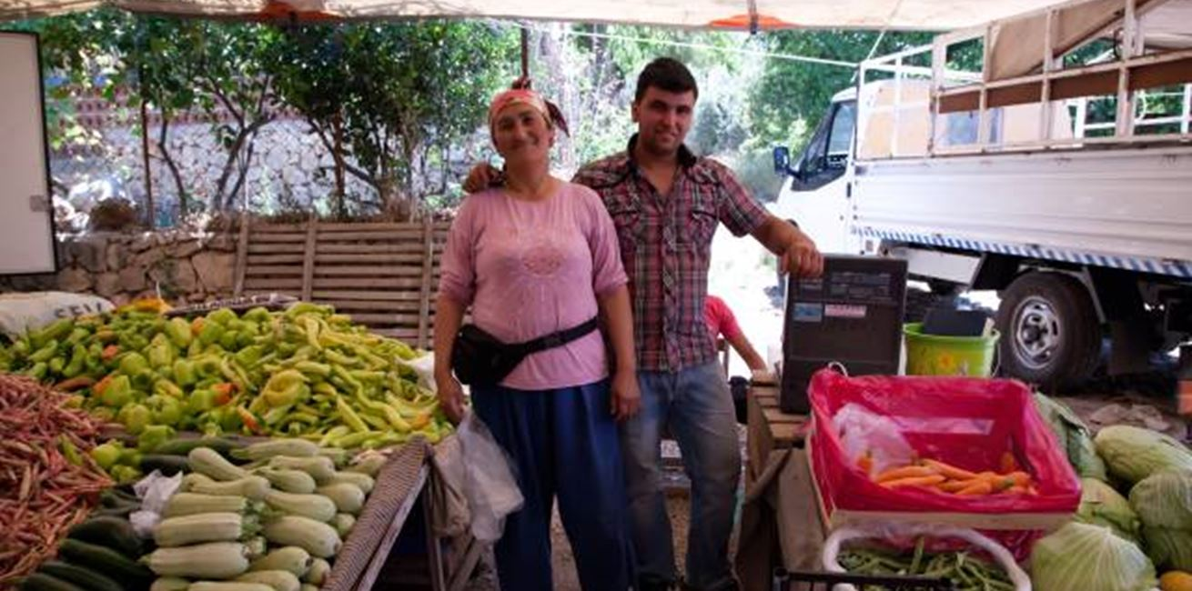 Meet the locals at Kalkan's market