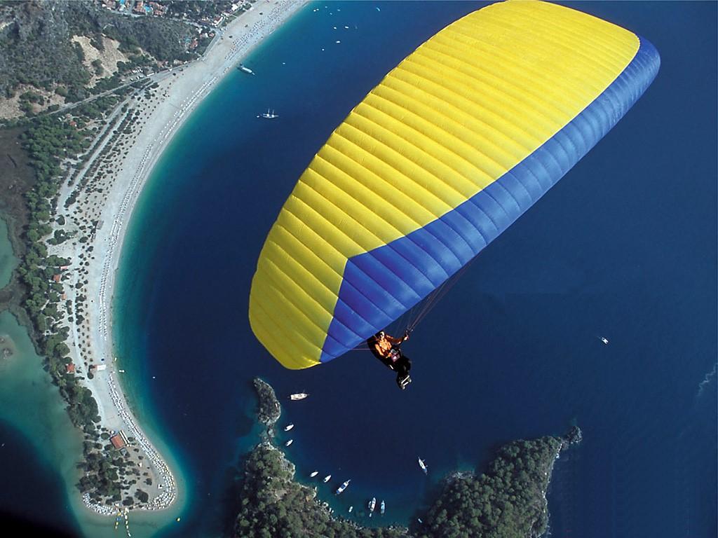 Paragliding near Kalkan