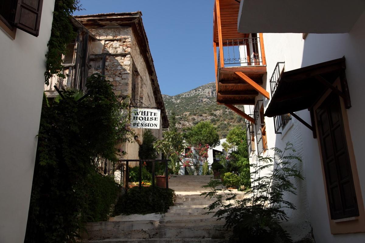 Narrow streets in Kalkan's old town
