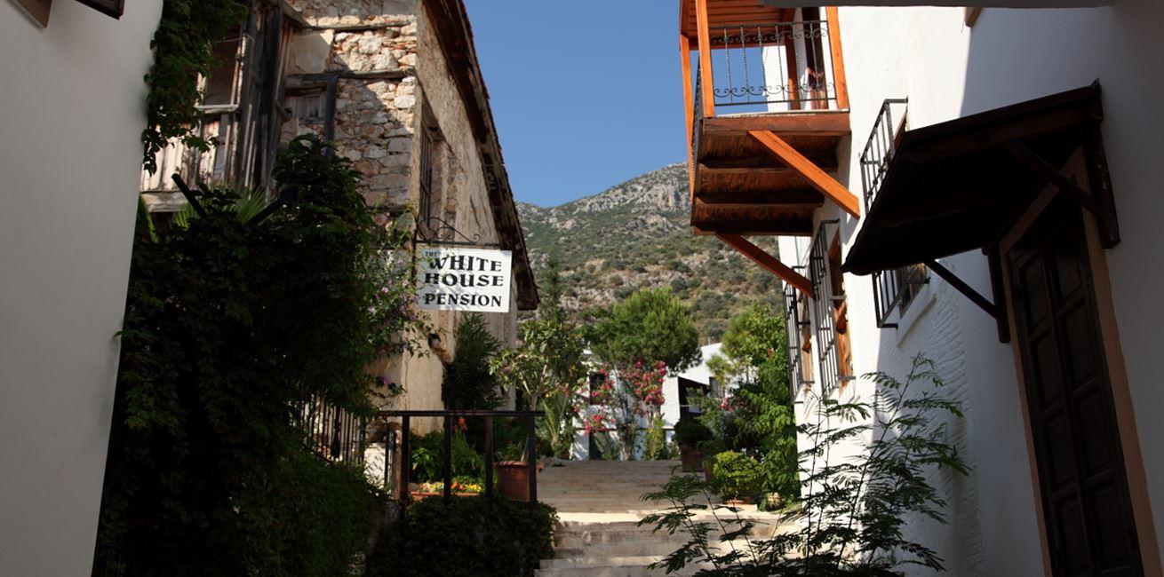 Narrow streets in Kalkan's old town