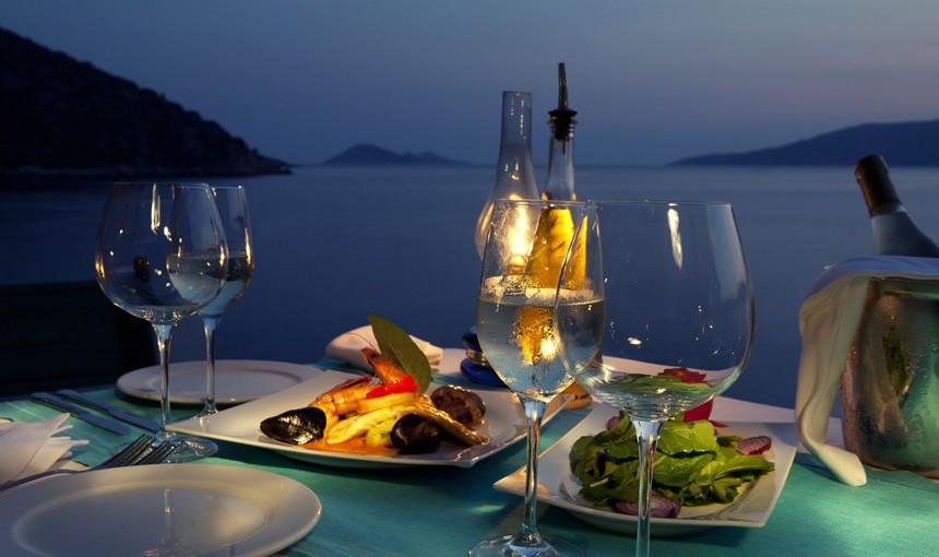 Fine dining with sea views on Kalkan's waterfront