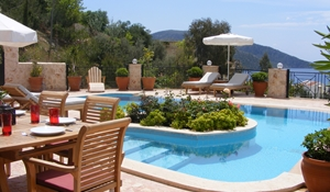 Large private pool and dining terrace