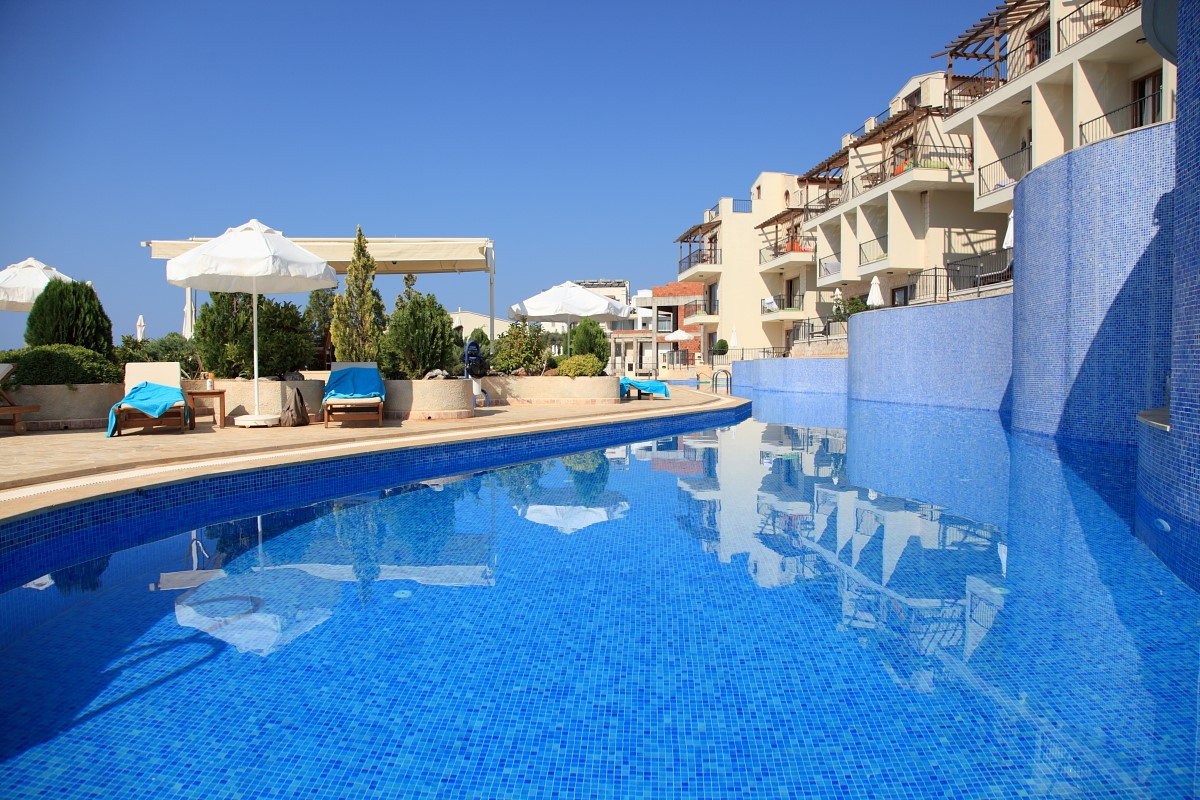 46m swimming pool and sunbathing terrace